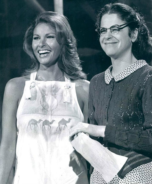 Rachel Welch and Gilda Radner.  Gilda Radner fought ovarian cancer and advanced awareness of ovarian cancer for seven years