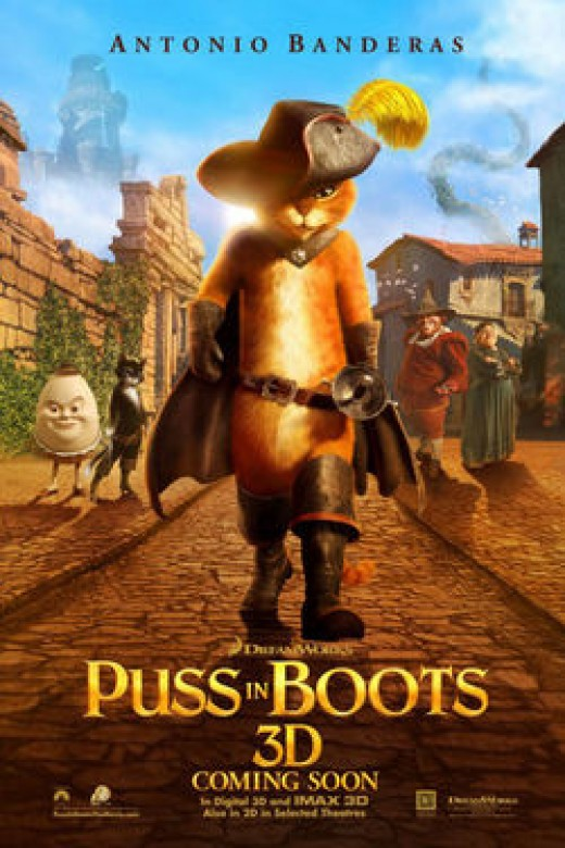 Movie theater poster, Puss In Boots