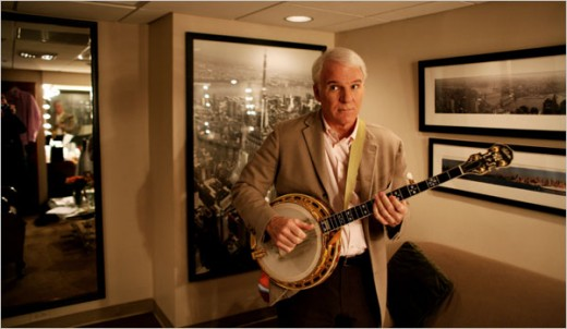 ACTOR, WRITER, COMIC, STEVE MARTIN, WITH BANJO, WOULD MAKE A TERRIFIC SUBSTITUTE FOR SANTA.