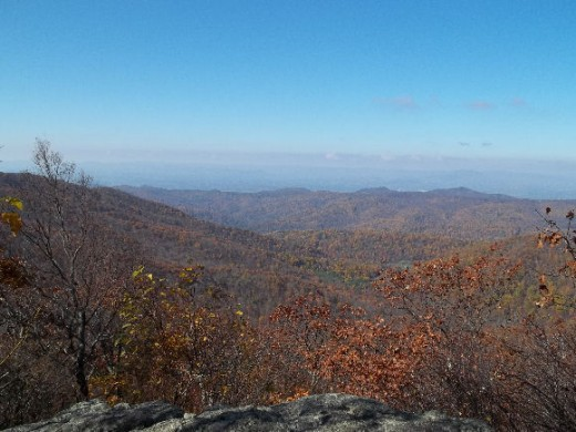 Picture taken by the author from the Appalachian Trail in Amelia County, Virginia