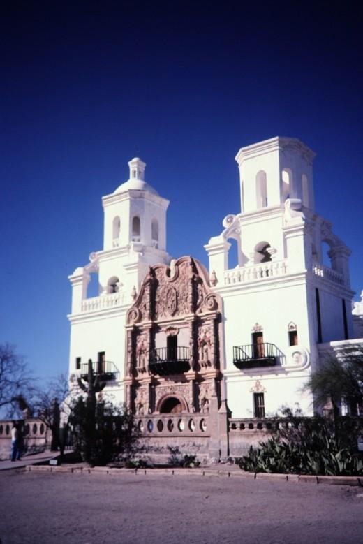 Mission San Xavier del Bac in Tucson, Arizona