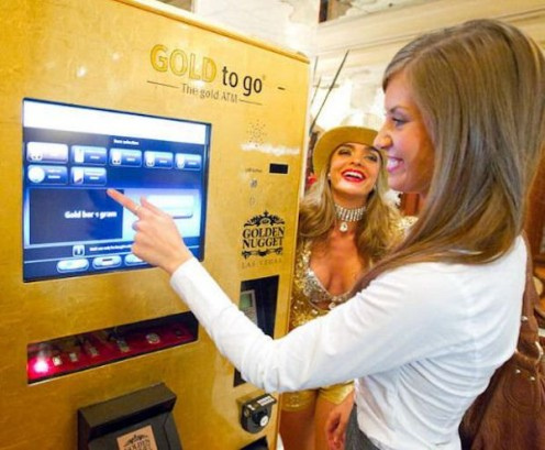 you can buy gold cheaper from a Gold ATM than from a bank