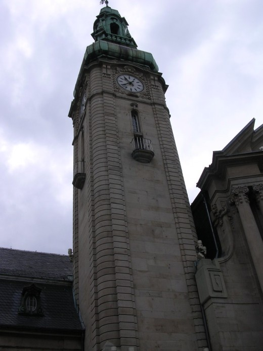 Luxembourg railroad station clock tower