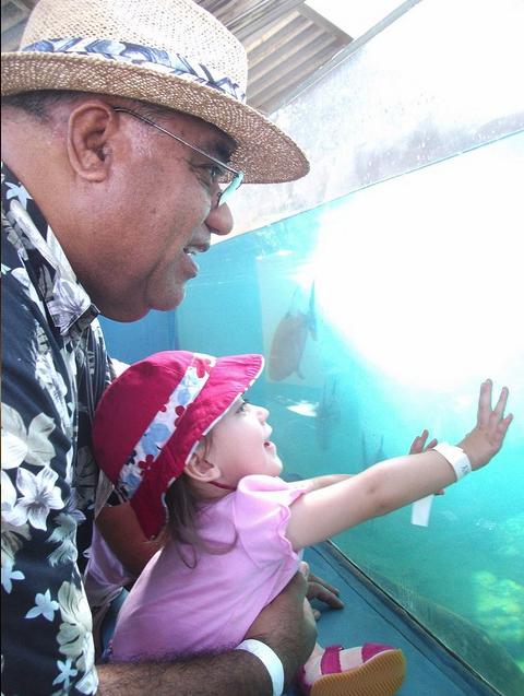 Fun with Grandpa.   Copyright Ruth Kongaika