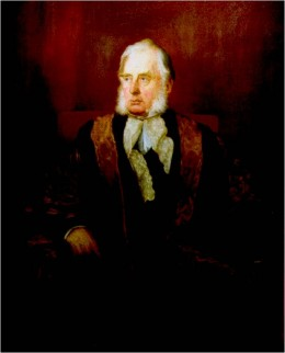Portrait of William Cavendish, 7th Duke of Devonshire (1808-1891) - artist unknown, c. 1870
