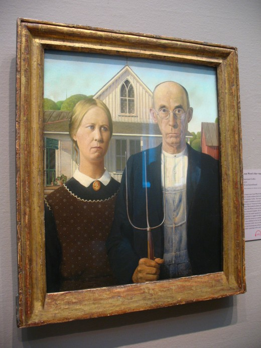 American Gothic resides in Chicago's Institute of Art, but you can strike your own pose in Eldon, Iowa.