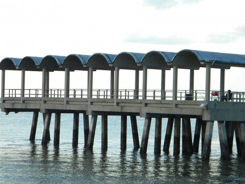 Plenty of room for everyone on this pier!