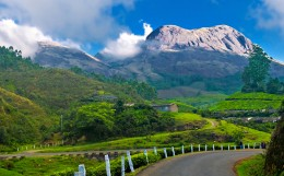 Munnar , Kerala, one of the most popular hill stations in India,