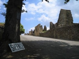 The visitor's entrance to Oradour-sur-Glane