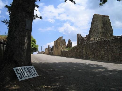 The visitor's entrance to Oradour-sur-Glane