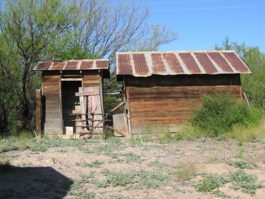 House and accompanying outhouse, Fairbank, Arizona
