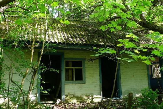 House in Chernobyl, Ukraine