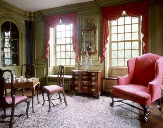 18th century interiors of georgian home designs for Georgian interior designs