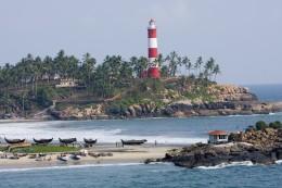 Kovalam Beach light house