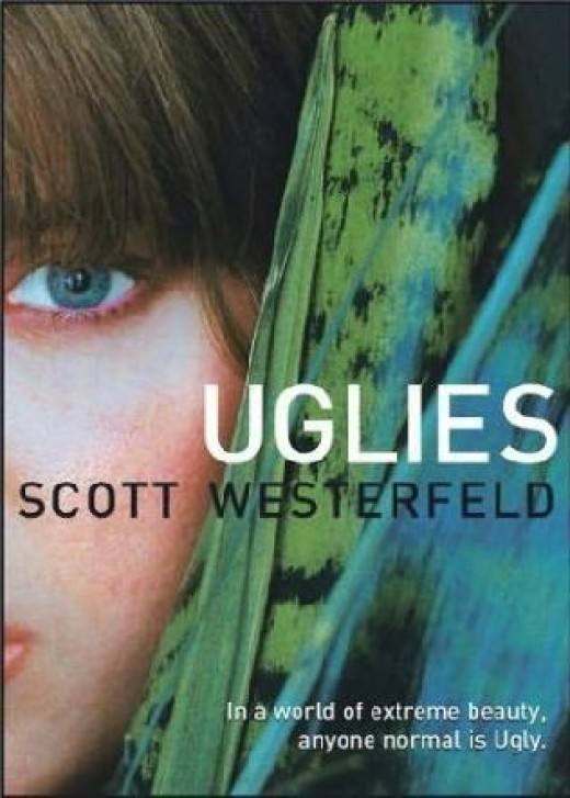 Uglies series, by Scott Westerfeld. He also wrote the Peeps books, which are about vampires (kind of) and the Midnighters series, which is pretty cool.