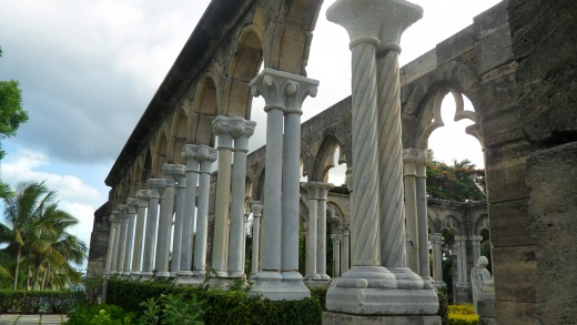 Stone structure of the Cloisters.