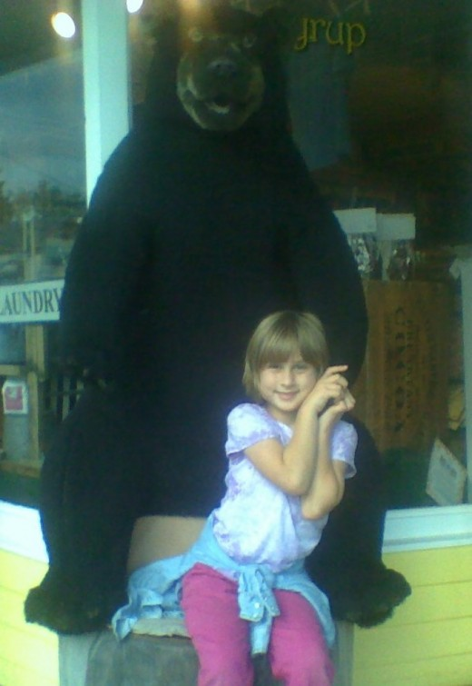 The friendly black bear guarding the entrance to Zeb's General Store