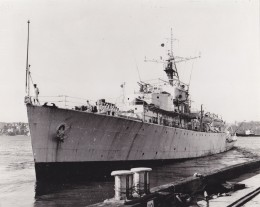 When I first joined this warship she sported a 4 inch gun and a 40mm Bofor up forward.  The 4 inch was taken off towards the end of my time aboard.