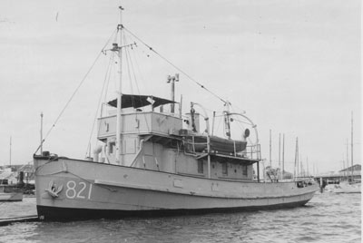 A mere 336 tons and only 122 feet long, she was suitable for harbour surveys.   I spent a night aboard her in Port Stephens in 1955 - or was it 56?