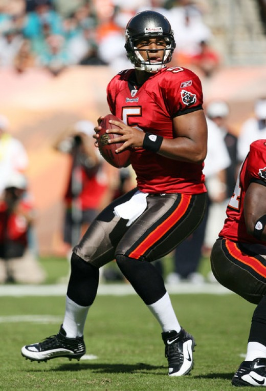 Josh Freeman will Look to sweep the Saints on Sunday.