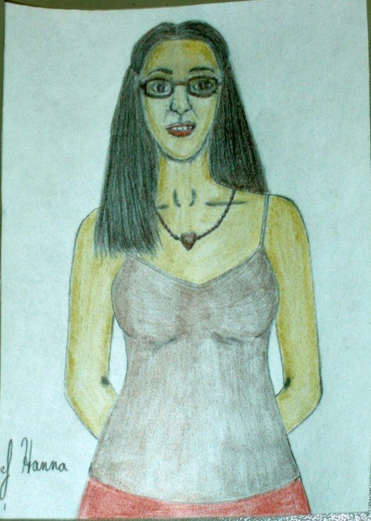 The color had been added to the clothes and the rest of the self-portrait.