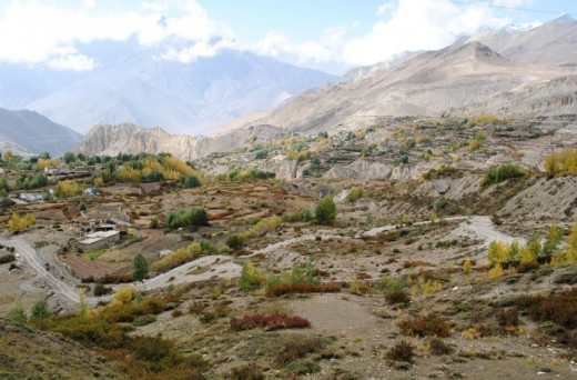 Jomsom (2760 meters) is one of the favorite tourist destinations in Nepal.