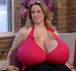 Chelsea Charms has unusually large breasts.