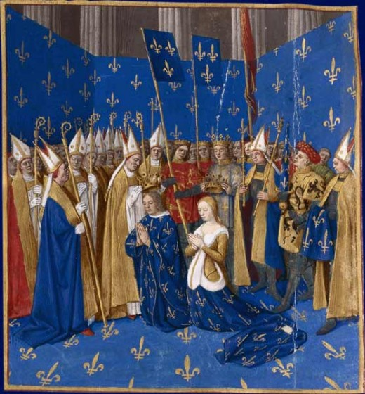 Coronation of King Louis VIII and Queen Blanche