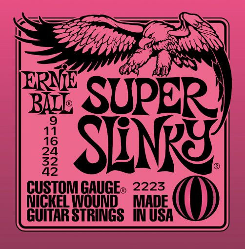 The strings I use, Ernie Ball Super Slinky