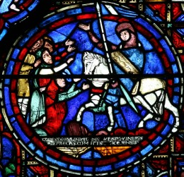 Memorial window for Thomas du Perche in Chartres Cathedral