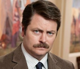 Ron Swanson, year-round mustache aficionado