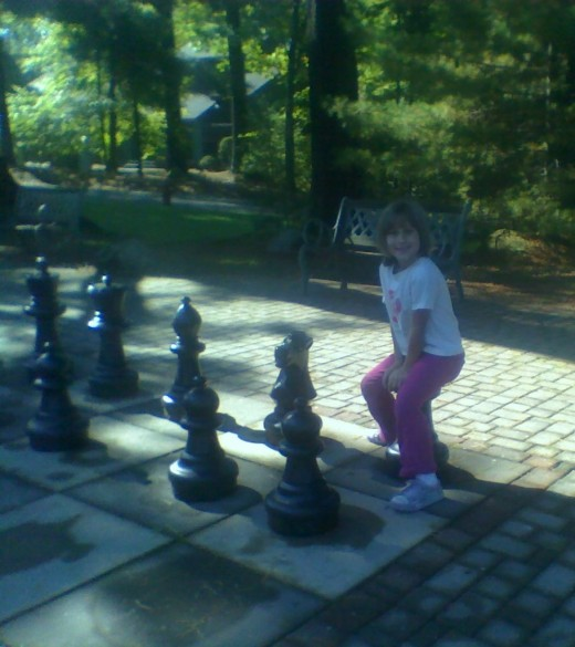 Fun on a life-size chess board at Stonehurst Manor