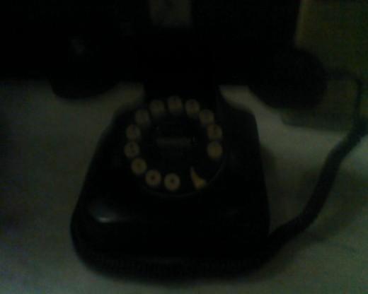Old 20th century rotary phone at Stonehurst Manor