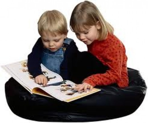 Books that are greatly illustrated are attractive to children. The pictures can tell a story, but don't let it take away from the reading material.
