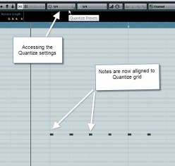 Correcting the Timing on Your MIDI Tracks Using Cubase 6's Quantize Features