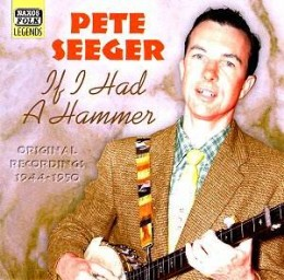 Pete Seeger's record album cover; If I Had a Hammer