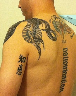 Kanji with Dragon Tattoo