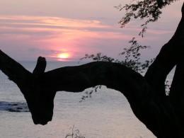 Red Setting Napili Bay Sun