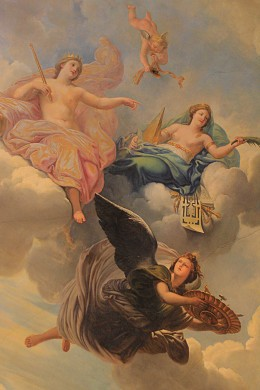 Photographs of subjects from around the world Ceiling art from Versailles, Paris, France
