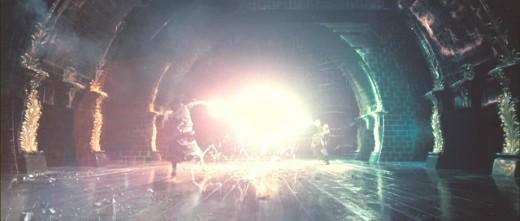 Dumbledore battling Lord Voldemort