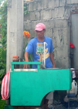 fish ball vendor preparing to cook his goods