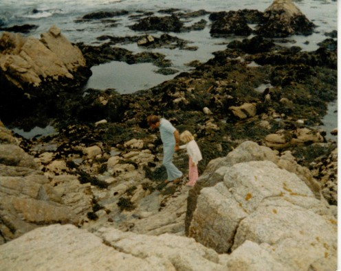This one is my favorite of all our photos.  This is my dad taking me down to the tide pools at the beach.  I know that my huge love of nature has to come from him at least in part.