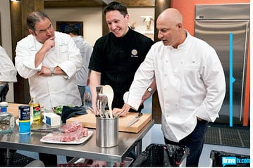 Mr. I Am a Chef to the Stars trying to explain to two REAL chefs why he's destroying the pig
