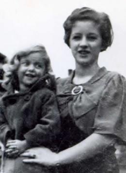 Sue with my Mom in Grand Marais, Michigan