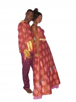 Using Nigeria print for a dinner wear.