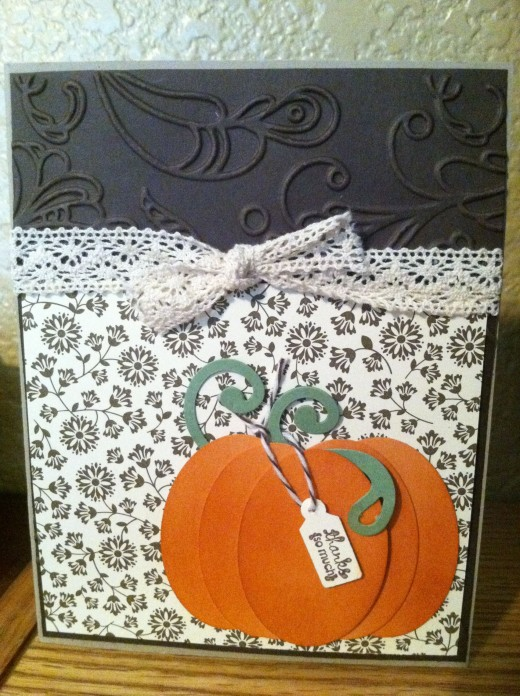 Thanksgiving card, hand-made