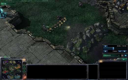Take out destructible rocks for a quicker way to your enemy.