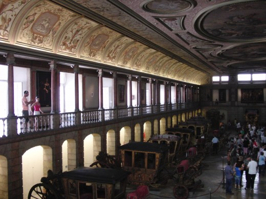 View of galleries in the second floor