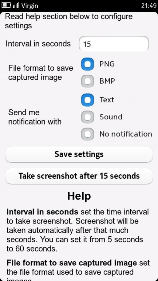 ScreenCapture App on N9