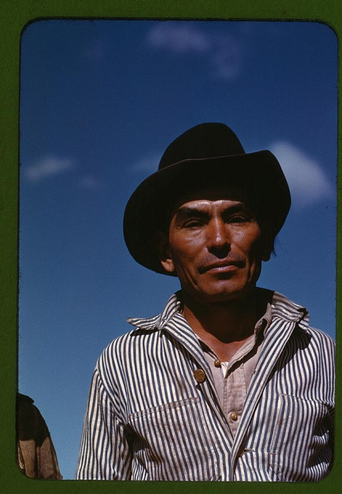 Migratory worker, FSA ... camp, Robstown, Tex. 1942 Jan.  Rothstein, Arthur,, 1915-1985,, photographer. (Library of Congress, Prints and Photographs Division, Washington, D.C. 20540 USA)